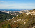 View of marseille road and sea on a background of blue sky panoramic Royalty Free Stock Photos