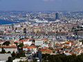A view on Marseilles city in France Royalty Free Stock Photo