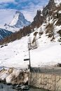 View of Matterhorn Peak with the snow mountain landscape Royalty Free Stock Photo