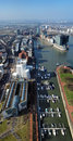 View on Media Harbour in Dusseldorf from TV tower Stock Images