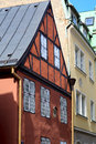 View of medieval building in riga latvia red authentic the heart the old Royalty Free Stock Photo