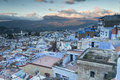 View of medina blue town chefchaouen morocco Stock Photo