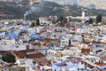 View of medina blue town chefchaouen morocco Royalty Free Stock Photography