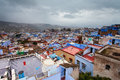 View of medina blue town chefchaouen morocco Royalty Free Stock Images