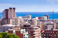 View of mediterranean city badalona catalonia Royalty Free Stock Photo