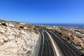 View of mediterranean highway benalmadena spain bird s eye autovia del mediterraneo Stock Image