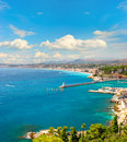 View of mediterranean resort, french riviera Royalty Free Stock Photos