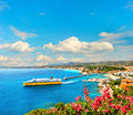 View of mediterranean resort Nice, French riviera Royalty Free Stock Photo