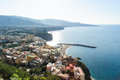 View of meta on the amalfi coast and sant agnello in campania italy Royalty Free Stock Photo