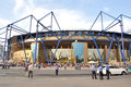 View on metallist stadium before the match between shakhtar donetsk city ukraine vs chernomorets odessa city ukraine may kharkov Royalty Free Stock Photography