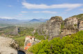 View of the Meteora monasteries, Greece Royalty Free Stock Images