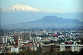 View of Mexico City and Volcano Mountain Royalty Free Stock Photo