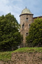 View of Midieval Castle Tower Royalty Free Stock Photo