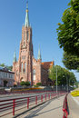 View on minor basilica in Grybow, Beskid Sadecki, Poland Royalty Free Stock Photo