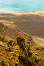 View from Mirador del Rio, Lanzarote. Royalty Free Stock Images