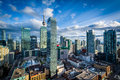 View of modern buildings in downtown Toronto, Ontario. Royalty Free Stock Photo