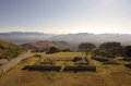 View from monte alban at dawn oaxaca mexico Stock Photo