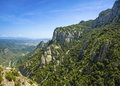 View from montserrat catalonia spain beautiful mountain landscape Royalty Free Stock Photos