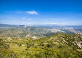 View from montserrat catalonia spain beautiful mountain landscape Royalty Free Stock Image