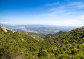 View from montserrat catalonia spain beautiful mountain landscape Royalty Free Stock Photo