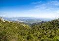 View from montserrat catalonia spain beautiful mountain landscape Royalty Free Stock Photo