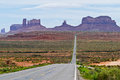 View of Monument Valley an  Highway 163 Royalty Free Stock Photo