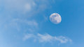 View of the moon during the day Royalty Free Stock Photo