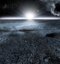 View of Moon Landscape, or Lunar Landscape Royalty Free Stock Photo