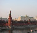View of moscow city on the kremlin from the river Stock Images