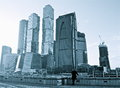 View of Moscow City Skyscrapers Royalty Free Stock Photo