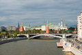 View of moscow kremlin and moskva river russia Royalty Free Stock Images