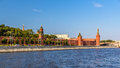 View of Moscow Kremlin over the river Royalty Free Stock Photo