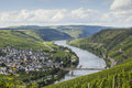 View on mosel valley the in germany Royalty Free Stock Image