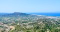 View from Mount Filerimos. Rhodes Island Royalty Free Stock Photo