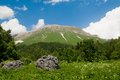 View of mount oshten north caucasus russia Royalty Free Stock Images