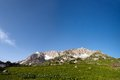 View of mount pshekha su in morning time panoramic Stock Photos