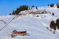 View on Mount Rigi in winter Royalty Free Stock Photo