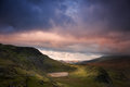 View from Mount Snowdon towards Carneddau Stock Photography