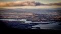 View from Mount Wellington overlooking Hobart, Tasmania, Australia Royalty Free Stock Photo