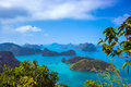 View from mountain on angthong marine national park thailand Stock Photo