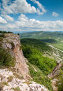 View from mountain mangup kale crimea ukraine tableland Royalty Free Stock Photography
