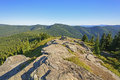 View from a mountain outcrop grandmother in idaho Stock Images
