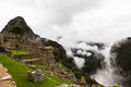 View of the mountain peak Huayna Picchu Royalty Free Stock Photo