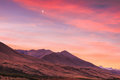 View of mountain rang in twilight Royalty Free Stock Photo