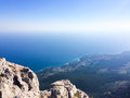 View from the mountain on the sea