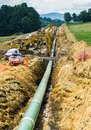 View Mountain Valley Pipeline Going Under the Blue Ridge Parkway, Virginia, USA Royalty Free Stock Photo