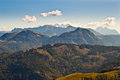 View of mountains in austrian Alps Royalty Free Stock Images