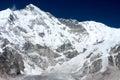 View of Mt Cho Oyu, Gokyo, Solu Khumbu, Nepal Royalty Free Stock Photo