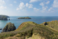 View of MullionIsland Cornwall UK the Lizard peninsula Mounts Bay near Helston Royalty Free Stock Photo