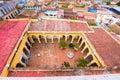 View of Museo Historico, Trinidad, Sancti Spiritus, Cuba. Ð¡opy space for text. Top view.